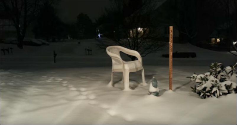 48 часов снегопада в одноминутном видео