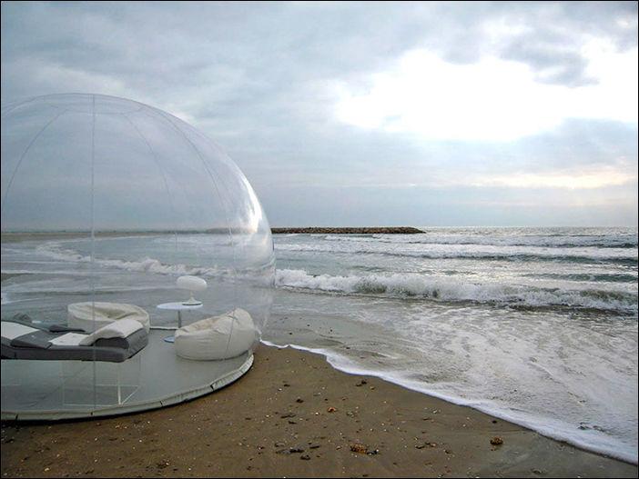 Прозрачная палатка для любования звездами (5 фото)