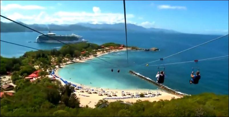 Самый длинный в мире спуск над водой