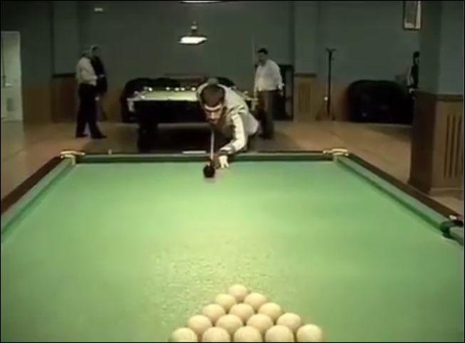 15 шаров одним ударом