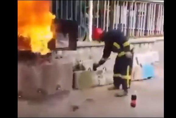 Кока-кола в качестве огнетушителя
