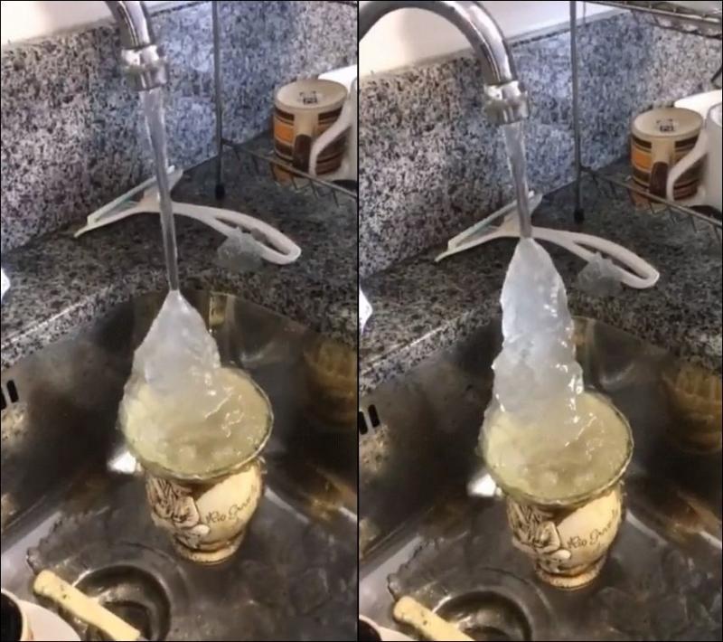 ледяная вода в кране